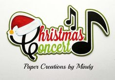 Craftecafe Mindy Christmas Concert Title premade paper piece scrapbook page #PaperCreationsbyMindy