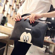 Women Hello Kitty Messenger Bag Minnie Mickey Bag Leather Handbags Ladies Cartoon Clutch Bag Bolsa Feminina Bolsa Female Handbag