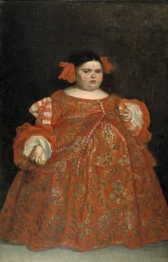 Juan Carreño de Miranda's portrait of Eugenia Martínez Vallejo, c. Eugenia was taken to the royal court to be exhibited because of her extraordinary proportions. Her portrait was painted at the order of King Carlos II. Art Gallery, Spanish Art, Vallejo, Fine Art, Painting, Renaissance Portraits, Art, Portrait Painting, Art History