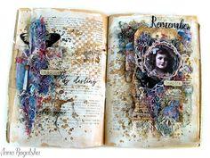 13arts: Art Journal Spread by Anna Rogalska