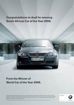 modern car ad