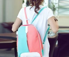 Shoespie Color Block Backpack. spenditonthis.com