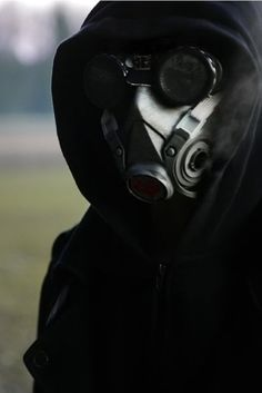 Cyberpunk gasmask.  ****E's gas mask. His constant wear to keep his identity secret, but also to conceal scars.***