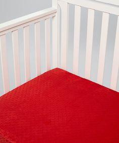 MADE IN USA Scarlet Minky Crib Sheet