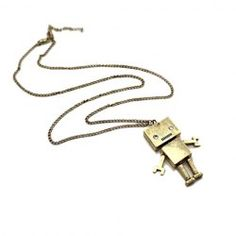 $4.00 Vintage Robot Pendant Alloy Long Sweater Chain For Women