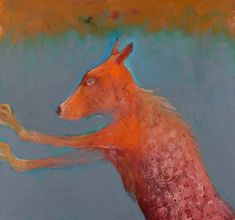 Mel McCuddin, Standing Dog 2008, oil on canvas
