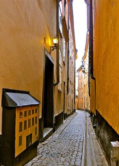 Gamla Stan Street, Stockholm. a little too small for me.. restriction fears.