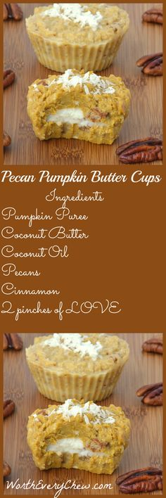 Pecan Pumpkin Butter Cups from . A creamy decadent mix of Pecans & Pumpkin, that is Paleo-Keto Friendly, is the perfect way to welcome Fall. Low Carb Sweets, Low Carb Desserts, Low Carb Recipes, Cooking Recipes, Healthy Recipes, Pumpkin Recipes, Fall Recipes, Summer Recipes, Sweet Recipes