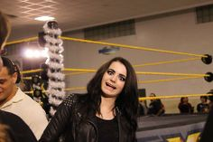Paige WWE Divas Champion - Goofing around..