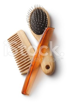Bath: Combs and Hairbrush royalty-free stock photo