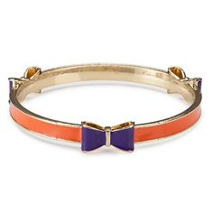 Gameday Orange and Purple Bow Bracelet | underthecarolinamoon.com