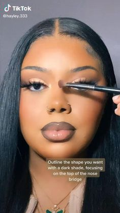 Makeup For Black Skin, Makeup Eye Looks, Black Girl Makeup, Cute Makeup, Girls Makeup, Makeup On Fleek, Glam Makeup, Contour Makeup, Flawless Makeup