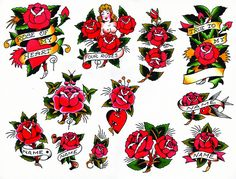 Sailor Jerry Rose Flash Sheet by steve.fournier, via Flickr