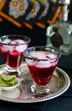The Purple Paloma is another great suggestion for Dia de Los Muertos cocktails to enjoy. Casa Noble, Fresca, grape juice, ice and Hepp's black lava salt is all it takes to prepare! Our many thanks to Lauren Grier @ Climbing Grier Mountain for this one, here is the full recipe: http://on.fb.me/1ixw18Y