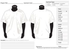 35 Awesome t-shirt order form template free images