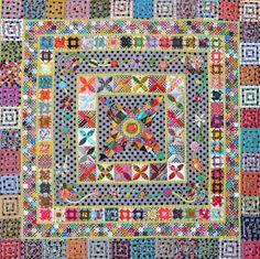 Midnight at the Oasis Jen Kingwell Designs Scrappy Quilt Pattern Sampler Quilts, Scrappy Quilts, Art Tribal, Quilt Modernen, Quilt Border, Traditional Quilts, Quilting Designs, Quilting Ideas, Quilting Tutorials