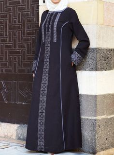Our take on traditional Embroidery for #Eid. From SHUKR Islamic Clothing