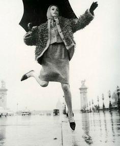 1965 Jean Shrimpton, 'Pintade' ensemble by Marc Bohan for Dior,