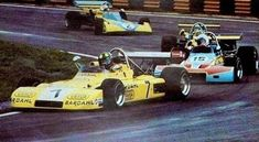 (7) Wilson Fittipaldi - Brabham BT38 Ford BDA - Team Bardahl - (15) Tim Schenken - Brabham BT38 Ford BDA - Motul Rondel Racing - (14) Ronnie Peterson - Brabham BT38 Ford BDA - Motul Rondel Racing - (2) Mike Hailwood - Surtees TS10 Ford BDA/Hart - Matchbox Team Surtees - II Torneio Brasiliero Formule 2 1972 - Interlagos, Sao Paolo, Brazil
