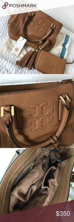 💯 auth Tory Butch bucket crossbody bag Beautiful Tory Butch bag, soft brown leather with matching wallet. Will be sold separately. This listing is only for the bag. Gold tone metal hardware in good shape. You will love it!  Examine photos for actual condition. Clean exterior and interior. Gently used. No major issues. Tory Burch Bags Crossbody Bags
