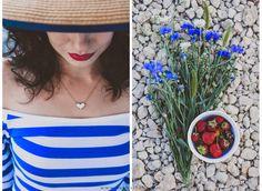 summer. red lips. sailor girl.