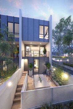 Townhouse by Conrad Architects, Australia