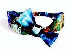 Galaxy Print Head Scarf Space Tie Headband Bandana by 2trUe
