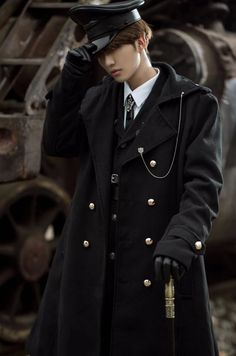 Your Highness -The Vow- 2020 Version Military Lolita Ouji Lolita Coat (for male) Kpop Outfits, Fashion Outfits, School Uniform Fashion, Real Costumes, Lolita Fashion, Anime, Fashion Design, Clothes, Military Coats