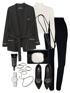 """""""Untitled #2990"""" by theeuropeancloset on Polyvore featuring Plakinger, WearAll, MANGO, Yves Saint Laurent, Apt. 9, Gucci and Monica Vinader"""