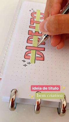 Bullet Journal Paper, Bullet Journal Lettering Ideas, Bullet Journal Notebook, Bullet Journal School, Bullet Journal Ideas Pages, Bullet Journal Inspiration, Book Journal, Journal Diary, Hand Lettering Tutorial
