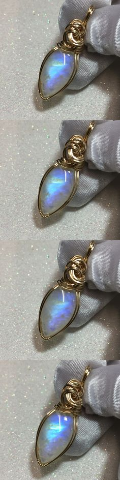 Moonstone 10237: Rainbow Moonstone Pendant - Aaaa - 14K Gold Fill - W/ Necklace 20Ct 2316G4 -> BUY IT NOW ONLY: $89.99 on eBay!