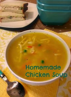 cooking the recipe: Home Made Chicken Soup