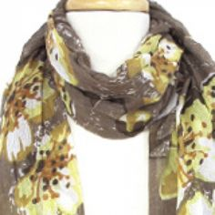 Chinese Flower Scarf at KIST Boutique, $16