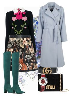 """floral skirt"" by selukeyho on Polyvore featuring Gucci, STELLA McCARTNEY, Miu Miu, MaxMara and Nine West"