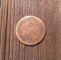1 bronze Centime INDO-CHINA 1892 от ScroogeShop на Etsy