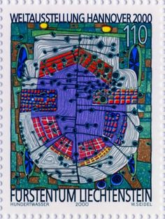 Hundertwasser Stamp Resource: Humus Scent, Do Not Wait Houses - Move, and Car to Nature