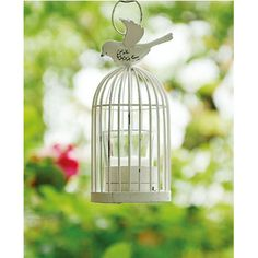 Outdoor birdcage candle holder