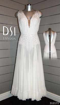 Alex Jones white ballroom dress