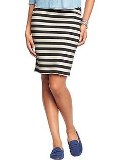 Womens Printed-Jersey Pencil Skirts