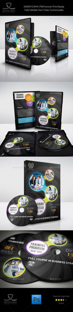 Corporate CD DVD Cover Presentation - abel templates psd