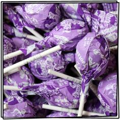 Wild Black Berry Tootsie Roll Pops. Perfect for a wedding with a purple candy buffet