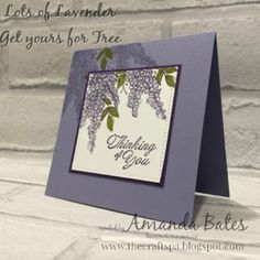Lots of Wisteria using the exclusive and free Sale A Bration stamp set, Lots of Lavender by Amanda Bates at The Craft Spa. Stampin Up UK Demonstrator & Daily Creative Blogger. Stampin Up shop online.