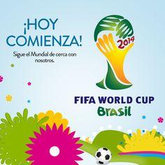 ¡Buen día! Hoy se inicia oficialmente el Mundial y las selecciones en enfrentarse son Brasil y Croacia. Horario pautado para las 4:00 PM. ¿Cuál es tu favorito? #Brasil2014 #FIFAWorldCup2014