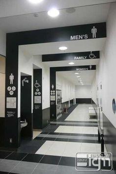 2012-08-29-blog-三井アウトレットパーク木更津の誘導表示サイン of タカラサイン Washroom Design, Toilet Design, Wayfinding Signage, Signage Design, Office Interior Design, Bathroom Interior Design, Toilet Signage, Wc Sign, Hospital Signs