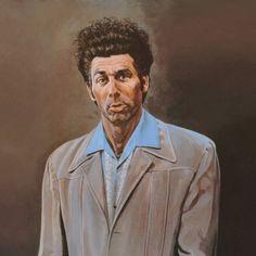 Kramer Portrait Duvet Cover by Hymandavid - Twin XL: x Foot Of Bed, Soft Duvet Covers, Seinfeld, Black Wood, Brown And Grey, Print Poster, Art Print, Graphic Art, Pop Culture