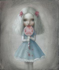 Beautiful+Nightmares+by+Nicoletta+Ceccoli | девочка, рисунок, голубые волосы ...