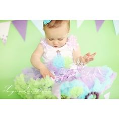 Lavender Rainbow Birthday Cupcake Pettiskirt Outfit