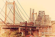 The Two Carquinez Bridges At Crockett and Vallejo California . aka Alfred Zampa Memorial Bridge .