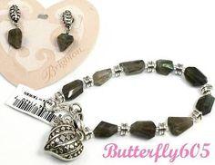 Brighton FREE SPIRIT Heart Bead Bracelet & Earrings Set - NWT $88