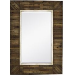 Contemporary Art Websites Rustic Natural Mosaic Wood Mirror x
